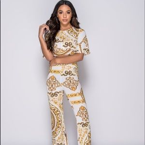 ad1bfe4895ee Pants - 2 piece pant crop top co ord inspired fashion set